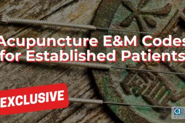 Acupuncture E&M Codes for Established Patients